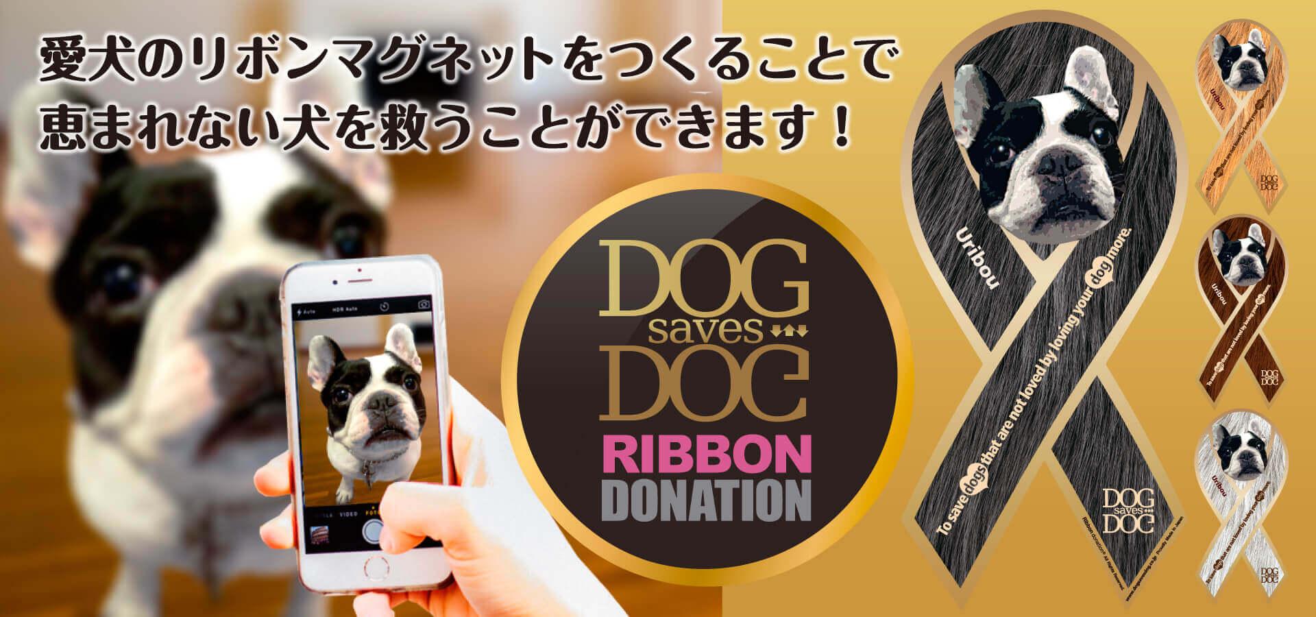 リボンマグネットを活用した社会貢献企画のご紹介「DOG saves DOG」